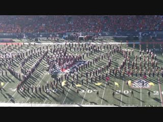 University of Arizona Marching Band- Marvel Stan Lee Tribute (Territorial Cup 2018)
