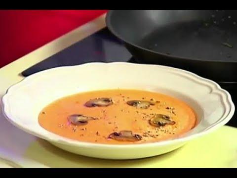 Суп-пюре из моркови запечённая сёмга на яблочной подушке Илья Лазерсон Кулинарный ликбез