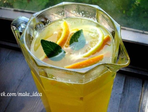 Освежающий домашний лимонад к Новому году! Ингредиенты: На целых 10 литров (!) потребуется: ✔ 4 апельсина, ✔ 1 лимон и сахар Лимонад получится очень вкусный, освежающий! Плюс можно сделать вкусное варенье! Приготовление: ✅ Фрукты обдать кипятком, положить в морозилку на 8-10 часов, а затем опустить ненадолго в горячую воду (чтобы фрукты лучше поддались нарезке) после этого нарезать на кусочки и прокрутить через мясорубку. Прокрученную массу залить 3-мя литрами холодной питьевой воды. ✅ Через…