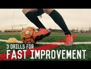 Top Three Football Soccer Drills For Fast Improvement Individual Training For Soccer Players