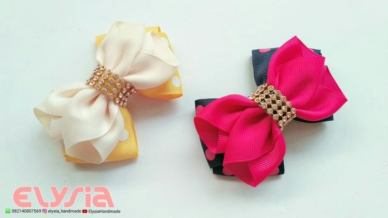 Laço Cruzado Ruffle 🎀 Ribbon Bow 🎀 DIY by Elysia Handmade
