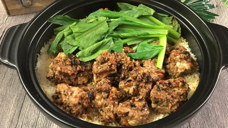 Super Easy Claypot Pork Rib Rice 砂煲排骨饭 Yummy Chinese One Pot Meal Recipe
