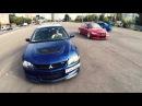 Subaru Imreza WRX STi 22B vs Lancer Evolution IX and DroneCam | Moscow - 3 japan cars