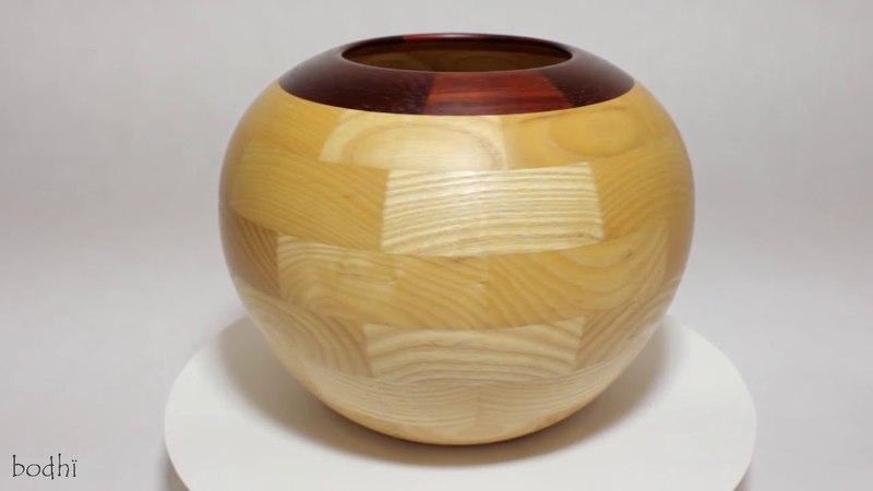 Ваза Сфера Ясень Падук Wood Vase Ash Paduk