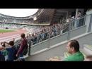 Волна на матче Динамо Минск - Дерри Сити