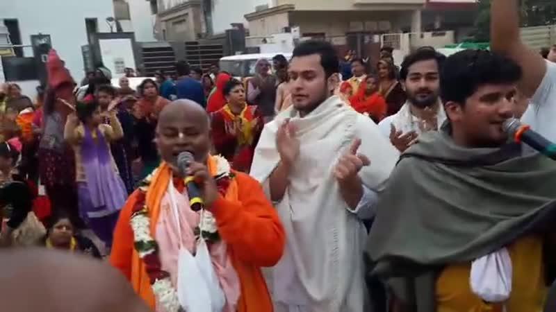 Шрипад БВ Шридхар Махарадж 10 02 2019 Ратха ятра в Этахе