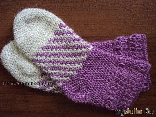 Вязание носков крючком МК