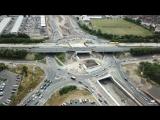 Строящаяся трехуровневая развязка A19 - A1058 Silverlink в Норт-Тайнсайде на северо-востоке Англии