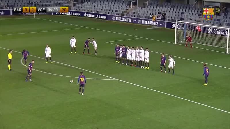 [HIGHLIGHTS] Així va ser l'empat del Barça B davant del València Mestalla al Miniestadi 2.mp4