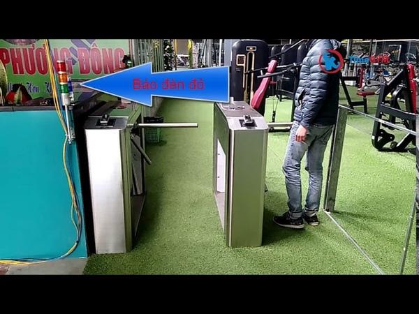 Hệ thống kiểm soát cửa ra vào phòng gym bằng vân tay kết hợp thẻ từ