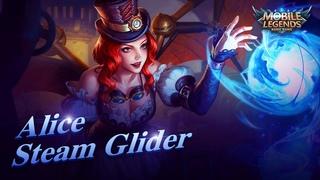 Alice New Skin | Steam Glider | Mobile Legends: Bang Bang!