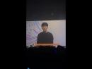 VK 180829 JINLONGGUO KIM YONGGUK Taehyun's message for Yongguk @ The 1st fanmeeting