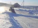 МТЗ - 82 чистка снега ( часть 2)