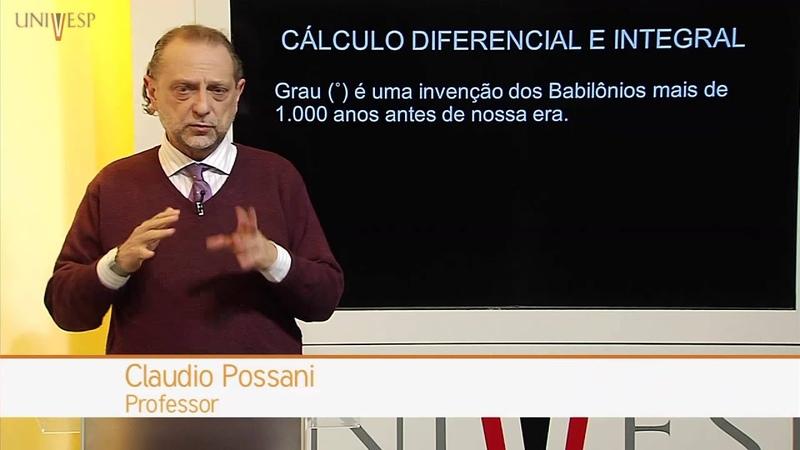 Cálculo I - Aula 01 - A importância do Cálculo na formação do professor de Ciências