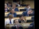 Блогер Саша Спилберг  выступила в Госдуме.