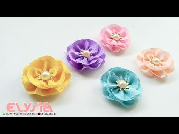 Simple Sweet Kanzashi Flower Part 1 🌸 DIY by Elysia Handmade
