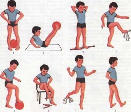 УПРАЖНЕНИЯ ДЛЯ СТОП Свод стопы формируется у детей 3–4 лет. Однако относительная слабость мышц и связок сохраняется до 6–7 лет даже у здоровых детей. Поэтому с детьми этого возраста необходимо регулярно выполнять упражнения, которые помогут сформировать и укрепить мышцы свода стопы и предотвратить развитие плоскостопия. Упражнения для стоп выполняют босиком или в чешках. Правильно сформировать и укрепить мышцы свода стопы так же поможет хождения босиком по земле, песку, камушкам, в воде,…