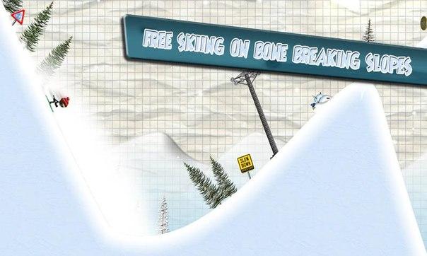 Скачать Stickman Ski Racer для android