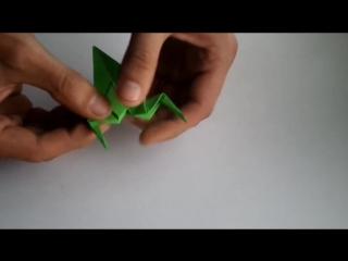 оригами из бумаги лягушка, как из бумаги сделать лягушку, оригами жаба __ how to make origami frog