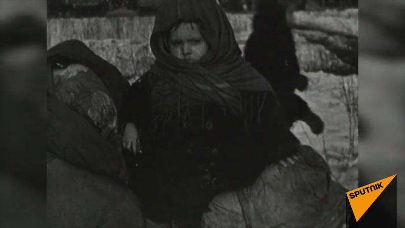 Первая автоколонна на Дороге жизни, связавшей осажденный Ленинград с тылом. Архивные кадры