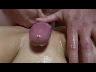Teen with wet oiled pussy getting fucked after grinding rubb