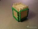 How to make a Matchstick Cube Cách làm ngôi nhà bằng diêm