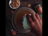 Ореховый торт с глазурью