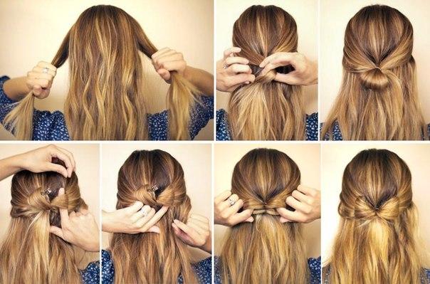 Красивые банты из волос своими руками