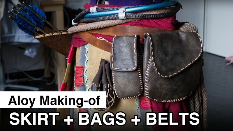 Aloy Cosplay Making of Skirt Belt Bags