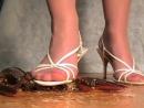 Crush lobster white sandals