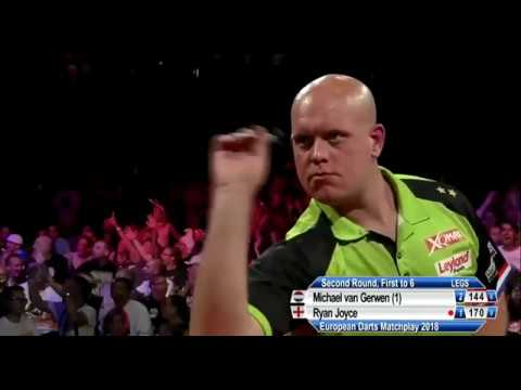 Michael van Gerwen does 9 DARTER - 2018 PDC European Matchplay