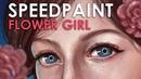 SPEEDPAINT | FLOWER GIRL | Paint Tool SAI
