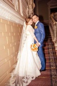 Александра и Андрей. 27.07.2013. Спасибо за прекрасное платье и фату!