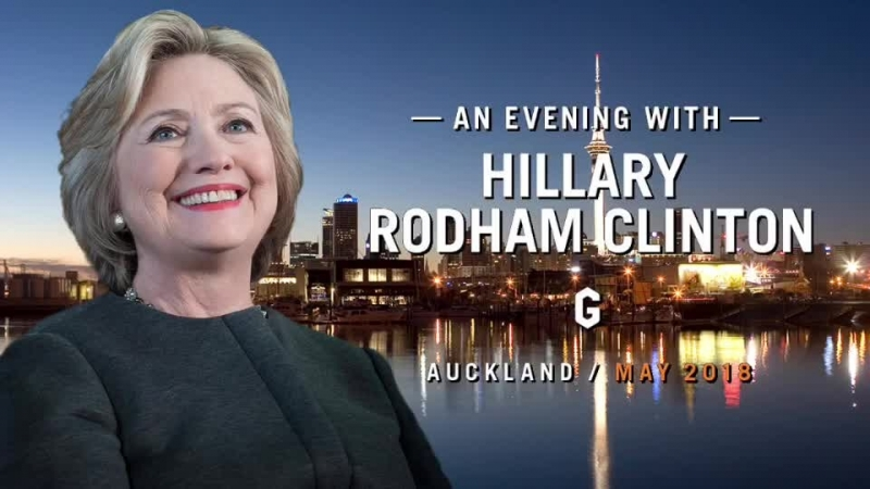 An Evening with Hillary Rodham Clinton Auckland May 2018