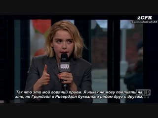 RUS(SUB) Kiernan Shipka On The Possibility Of A Chilling Adventures of Sabrina Riverdale Crossover