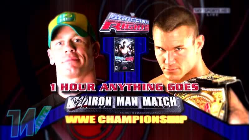 Viper Randy Orton vs Mr Never Give Up John Cena Bragging Rights 2009 Highlights
