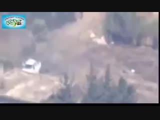 Подрыв машины с боевиками ССА Султан Мурад в Африне