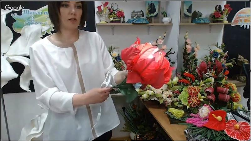 Бесплатный мастер-класс «Небольшой светильник-цветок». Мастер Наталья Дроздова.