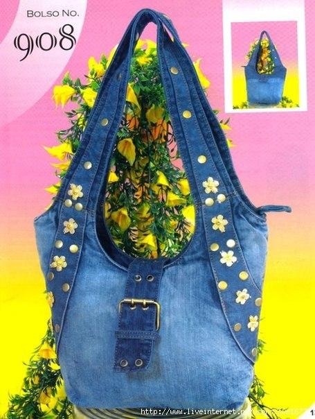 Джинсовые сумки своими руками фото и выкройки простые