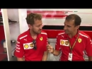 Seb and Kimi about if they got some rest during the summer break - - Seb5 Kimi7 BelgianGP