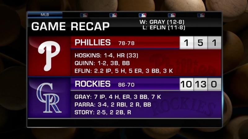 Game 156: COL_10_PHI_1 © MLB.com