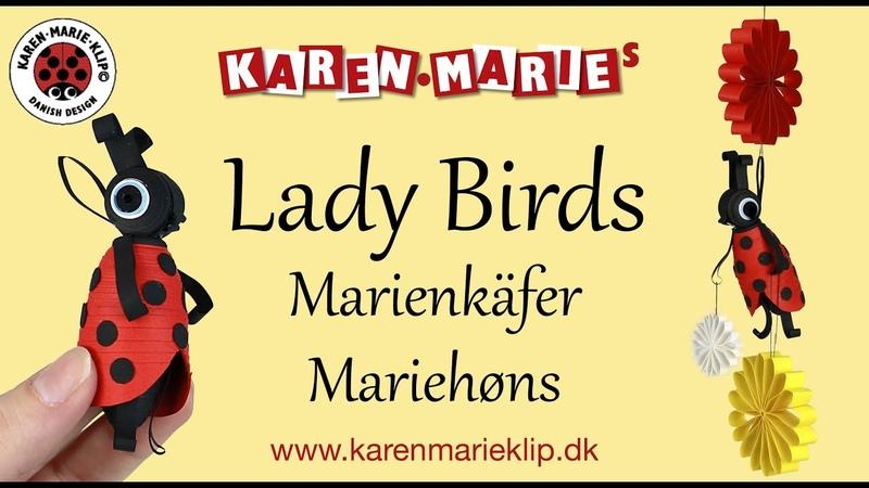 Quilling - MariehønerMarienkäferLadybirds - Karen Marie Klip Papir