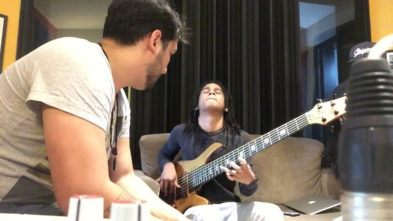 Michael Pipoquinha gravando no disco Intrumental do Daniel Silveira - bastidores improviso