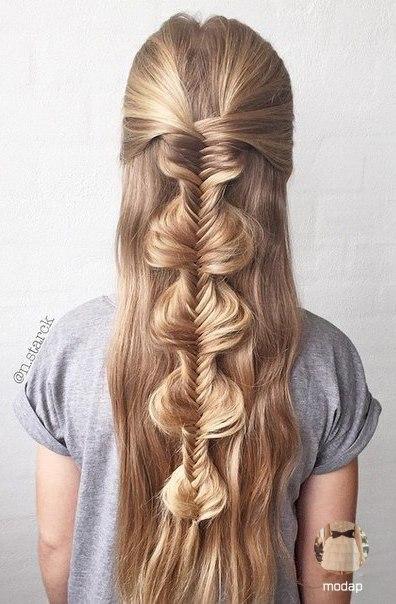 Классные идеи причёсок на распущенные волосы