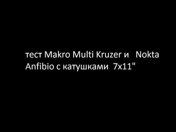 тест Makro Multi Kruzer и Nokta Anfibio с катушками 7х11
