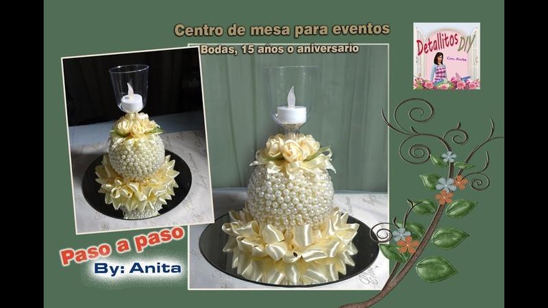 Centro de mesa para eventos especiales (Bodas, 15 años, Aniversario..)