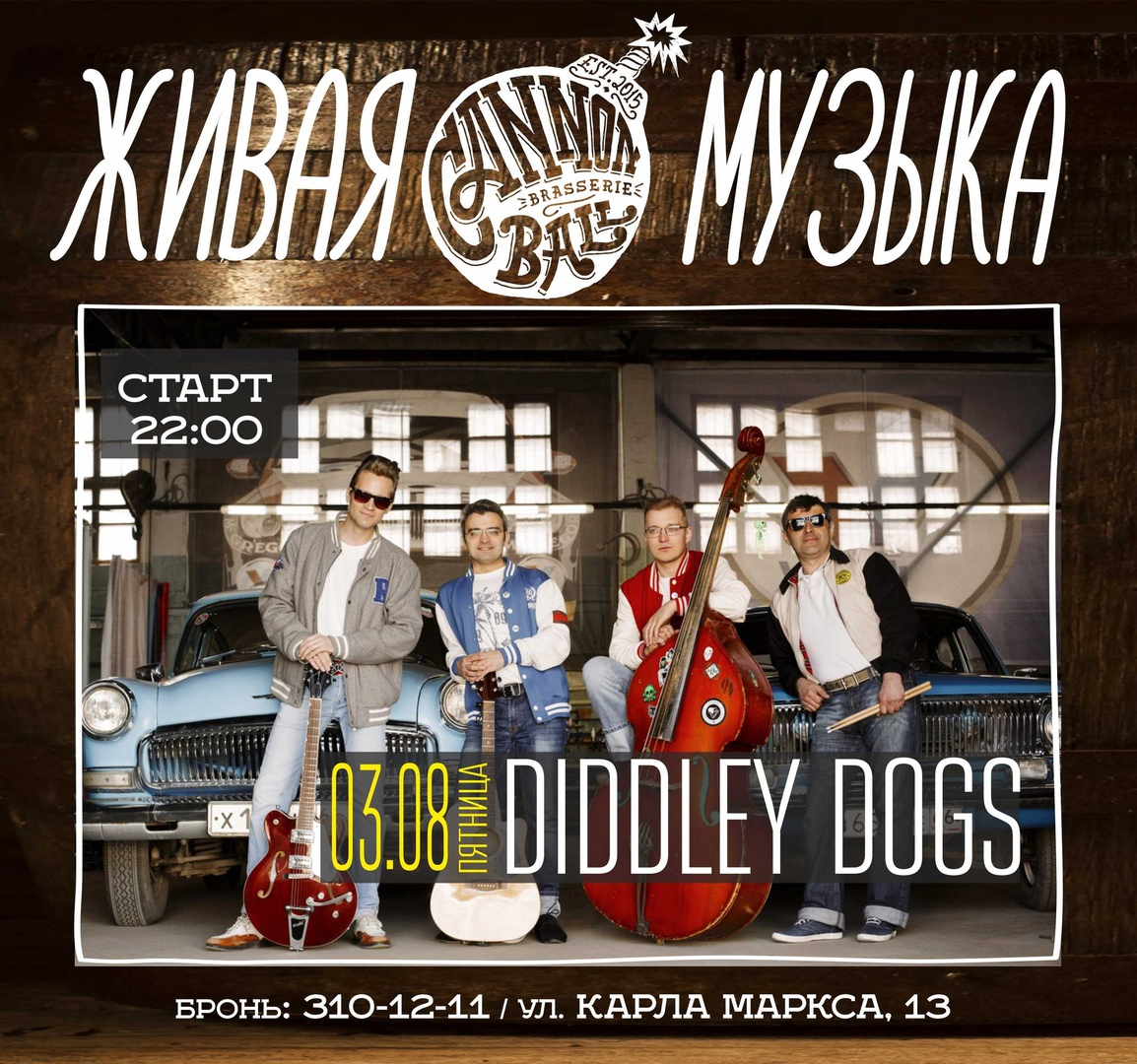 03.08 Diddley Dogs в баре Cannonball Brasserie!