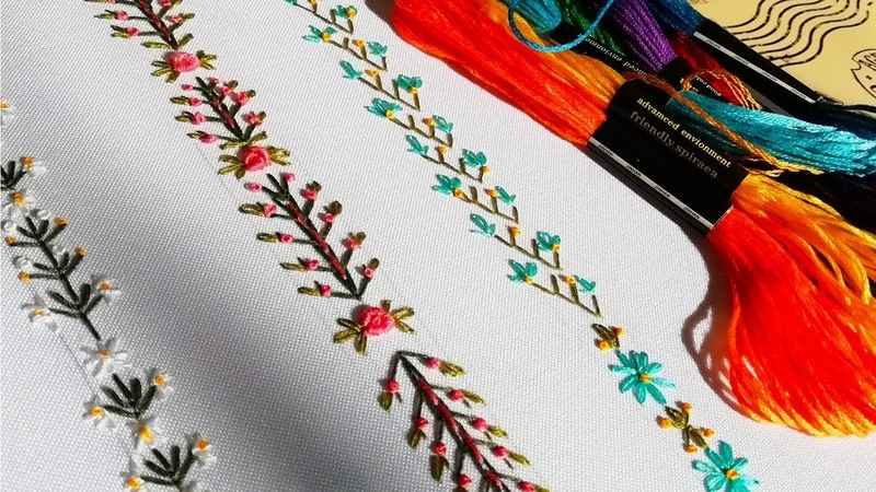 Hand Embroidery |Decorative stitches| Декоративные швы