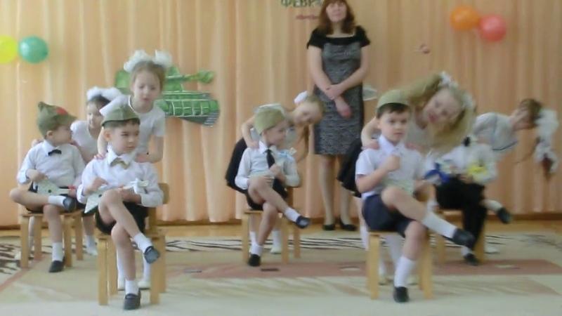 Танец Девушки фабричные Старшая группа 23 Февраля