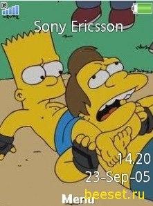 Скачать Симпсоны тему для телефона Nokia, Samsung, LG
